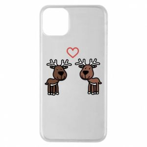 Phone case for iPhone 11 Pro Max Deer in love
