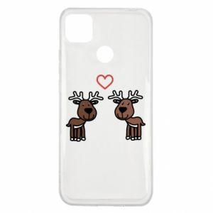 Xiaomi Redmi 9c Case Deer in love
