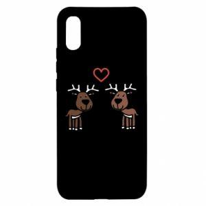 Xiaomi Redmi 9a Case Deer in love
