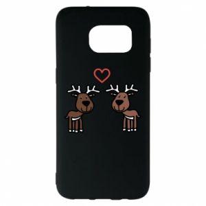 Samsung S7 EDGE Case Deer in love