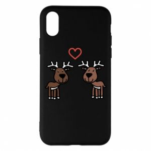 Phone case for iPhone X/Xs Deer in love