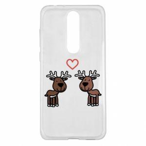 Nokia 5.1 Plus Case Deer in love