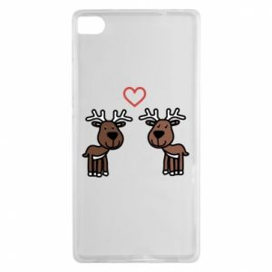 Huawei P8 Case Deer in love