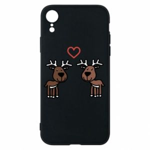 Phone case for iPhone XR Deer in love