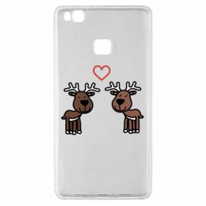 Huawei P9 Lite Case Deer in love