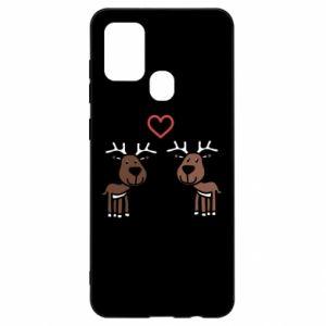 Samsung A21s Case Deer in love
