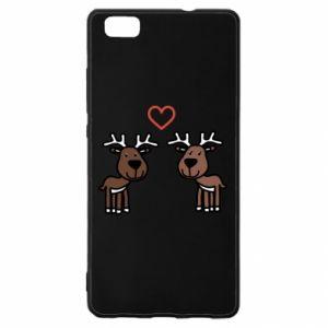 Huawei P8 Lite Case Deer in love