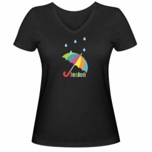 Damska koszulka V-neck Jesień!