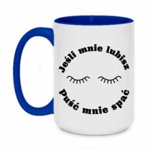 Two-toned mug 450ml If you love me let me sleep