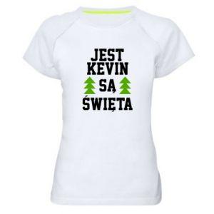 Damska koszulka sportowa Jest Kevin są Święta