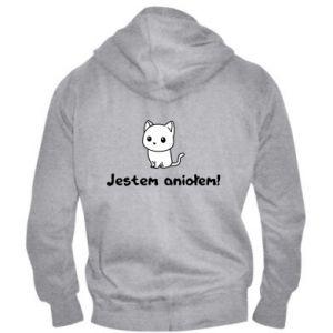 Men's zip up hoodie I'm an angel! Or the devil ... - PrintSalon