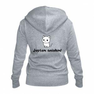 Women's zip up hoodies I'm an angel! Or the devil ... - PrintSalon