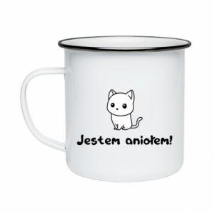 Enameled mug I'm an angel! Or the devil ... - PrintSalon