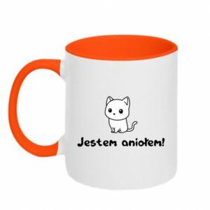 Two-toned mug I'm an angel! Or the devil ... - PrintSalon