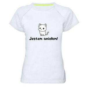 Women's sports t-shirt I'm an angel! Or the devil ... - PrintSalon