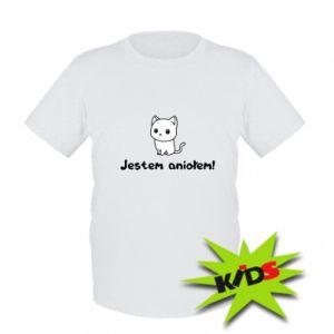 Dziecięcy T-shirt Jestem aniołem! Albo diabłem ...