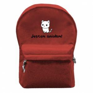 Plecak z przednią kieszenią Jestem aniołem! Albo diabłem ...