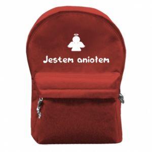 Plecak z przednią kieszenią Jestem aniołem