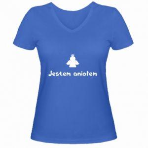 Women's V-neck t-shirt I'm an angel