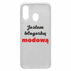 Phone case for Samsung A40 I am a blogger - PrintSalon