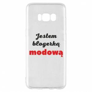 Phone case for Samsung S8 I am a blogger - PrintSalon