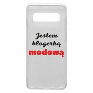 Phone case for Samsung S10 I am a blogger - PrintSalon