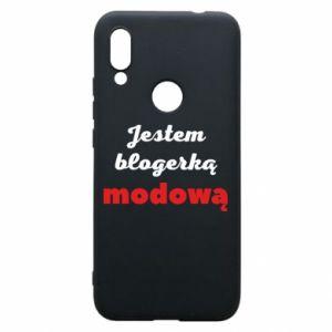 Phone case for Xiaomi Redmi 7 I am a blogger - PrintSalon