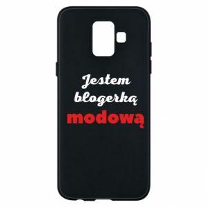 Phone case for Samsung A6 2018 I am a blogger - PrintSalon