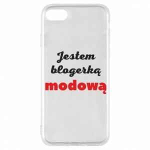 Phone case for iPhone 8 I am a blogger - PrintSalon