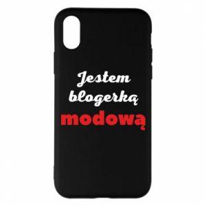 Phone case for iPhone X/Xs I am a blogger - PrintSalon