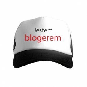 Czapka trucker dziecięca Jestem blogerem