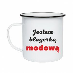 Enameled mug I am a blogger - PrintSalon
