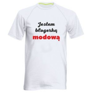 Men's sports t-shirt I am a blogger - PrintSalon