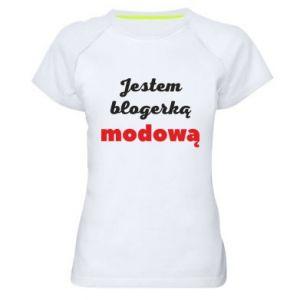 Women's sports t-shirt I am a blogger - PrintSalon