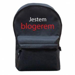 Backpack with front pocket I'm bloger - PrintSalon