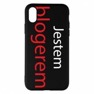 Phone case for iPhone X/Xs I'm bloger - PrintSalon