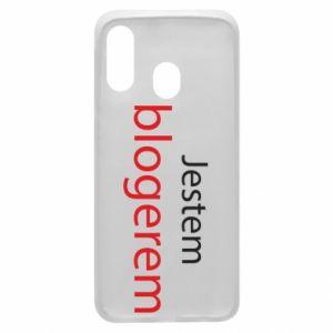 Phone case for Samsung A40 I'm bloger - PrintSalon