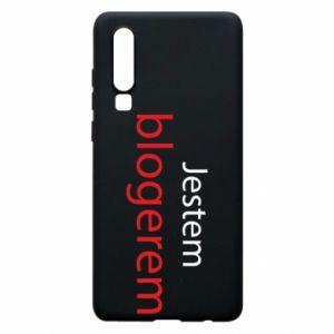 Phone case for Huawei P30 I'm bloger - PrintSalon