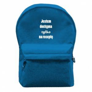 Plecak z przednią kieszenią Jestem dostępna tylko na receptę