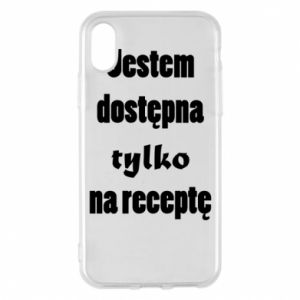 Phone case for iPhone X/Xs I'm available only on prescription - PrintSalon