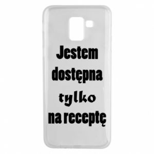 Phone case for Samsung J6 I'm available only on prescription - PrintSalon