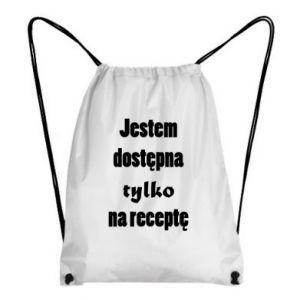 Plecak-worek Jestem dostępna tylko na receptę