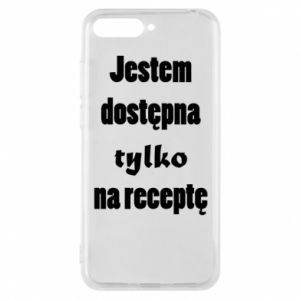 Phone case for Huawei Y6 2018 I'm available only on prescription - PrintSalon