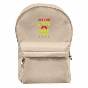 Plecak z przednią kieszenią Jestem gruby bo mnie stać