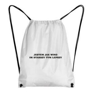 Backpack-bag I like wine the older the better - PrintSalon