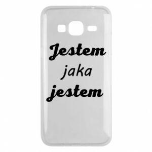 Etui na Samsung J3 2016 Jestem jaka jestem