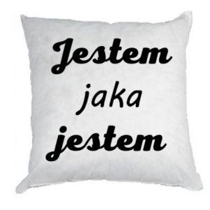 Poduszka Jestem jaka jestem