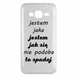Phone case for Samsung J3 2016 I am what - PrintSalon