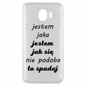 Phone case for Samsung J4 I am what - PrintSalon