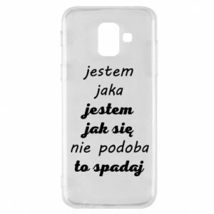 Phone case for Samsung A6 2018 I am what - PrintSalon